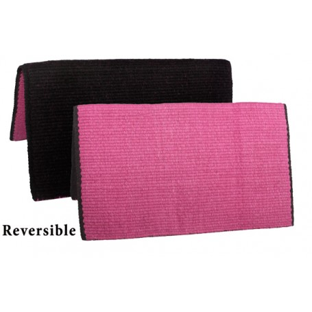 Black Fuschia New Zealand Wool Show Reversible Saddle Blanket