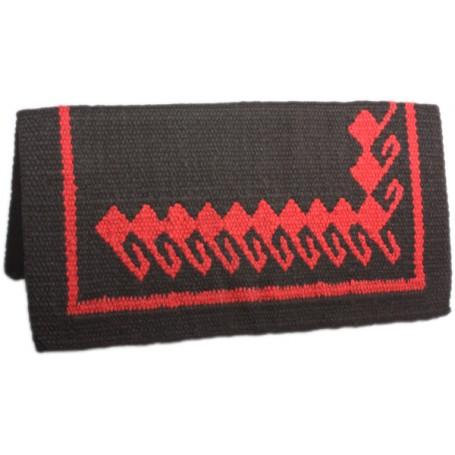 Black Red Premium New Zealand Wool Show Horse Saddle Blanket