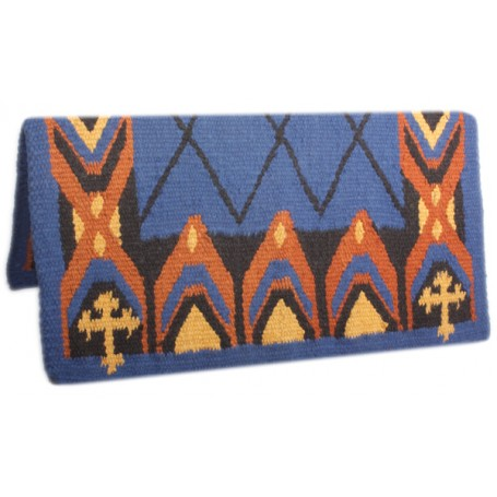Blue Premium New Zealand Wool Show Horse Saddle Blanket