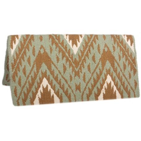 Green Premium New Zealand Wool Show Horse Saddle Blanket