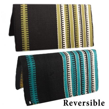 Premium Reversible Patterned New Zealand Wool Saddle Blanket