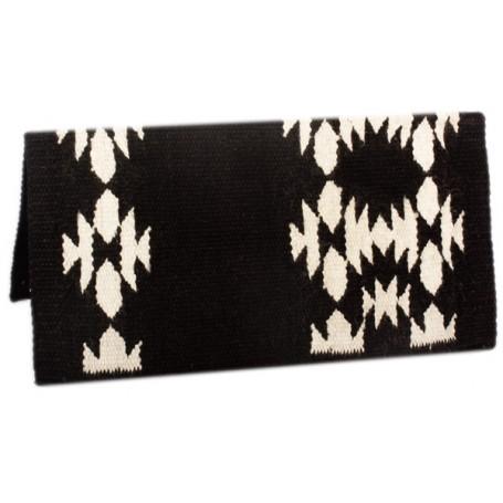 Black Premium New Zealand Wool Show Horse Saddle Blanket