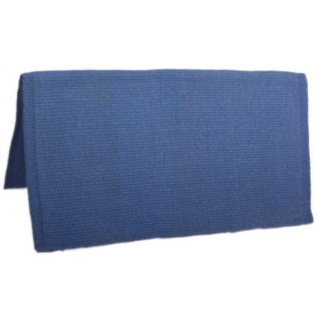 Solid Blue Premium New Zealand Wool Show Horse Saddle Blanket