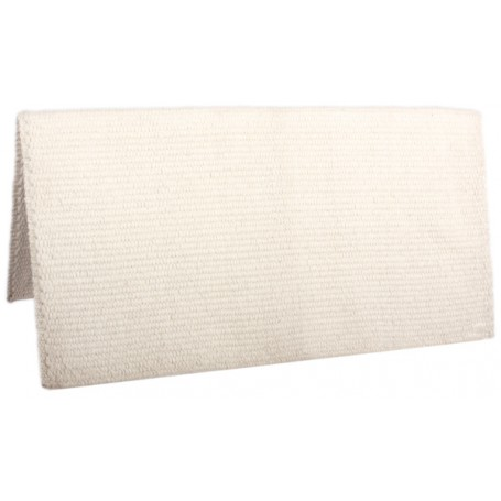 Solid Cream Premium New Zealand Wool Show Horse Saddle Blanket