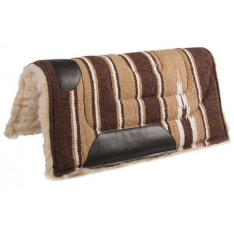 Brown Navajo Pony Fleece Felt Western Saddle Pad
