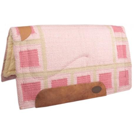 Pink Wool Felt Heavy Western Horse Saddle Pad