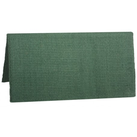 Solid Green Premium New Zealand Wool Show Horse Saddle Blanket