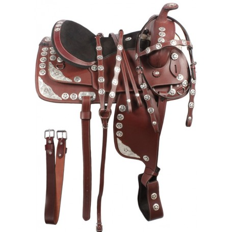 Texas Star Mahogany Western Show Saddle 16