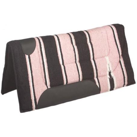 Pink Black Felt Lined Western Saddle Pad