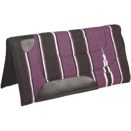 Purple Black Felt Lined Western Saddle Pad