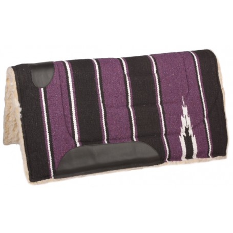 Purple Black Fleece Lined Western Saddle Pad