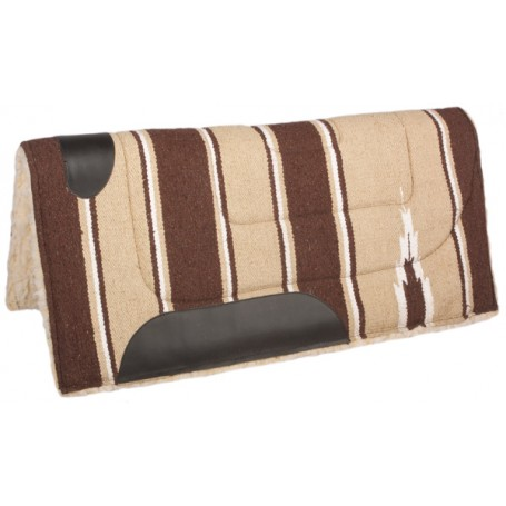 Brown Sand Fleece Lined Western Saddle Pad