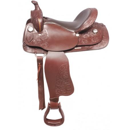 Comfortable Western Pleasure Trail Horse Leather Saddle 16