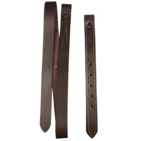 Western Saddle Brown Leather Latigo Off-Billet Cinch Strap