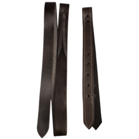 Western Saddle Black Leather Latigo Off-Billet Cinch Strap