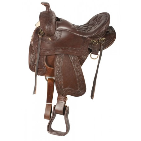 New Endurance Draft Horse Western Leather Saddle 16 17