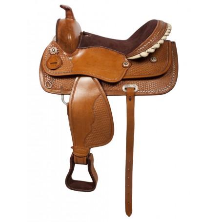 16 Barrel Racing Western Leather Horse Saddle