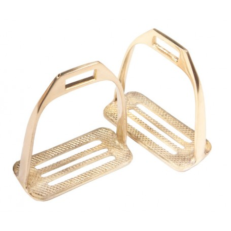 Solid Brass Australian 4 Bar Horse Stirrups Irons