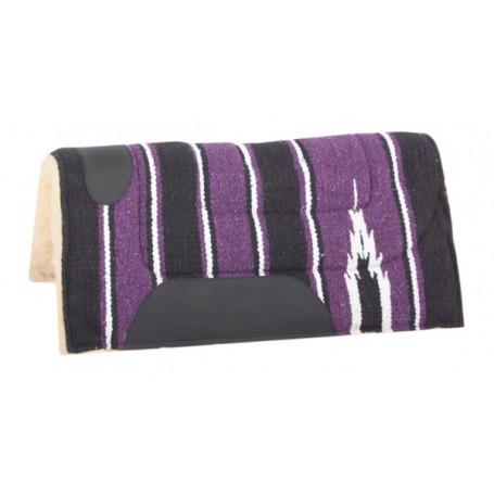 Purple Black Navajo Fleece Lined Pony Saddle Pad