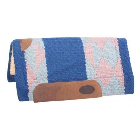 Blue Pink Diamond Wool Premium Heavy Pony Saddle Pad