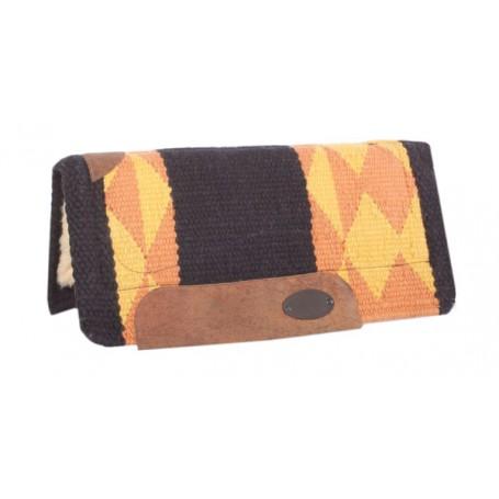 Orange Black  Wool Premium Heavy Pony Saddle Pad