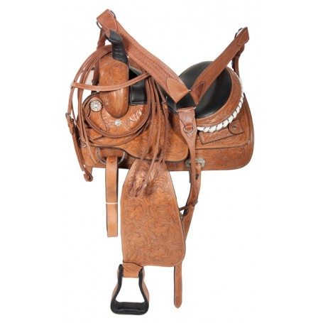 Hand Carved Premium Quality Ranch Work Horse Saddle