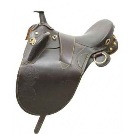 AUSTRALIAN LEATHER BROWN HORSE SADDLE WITH PACKAGE