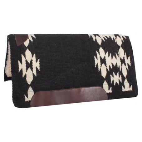 Black and White Pattern Wool Felt Heavy Western Saddle Pad