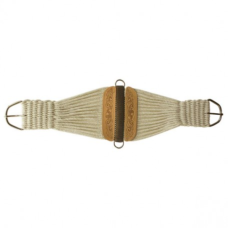 Abetta  Hand Tooled Rope Cinch Girth 36