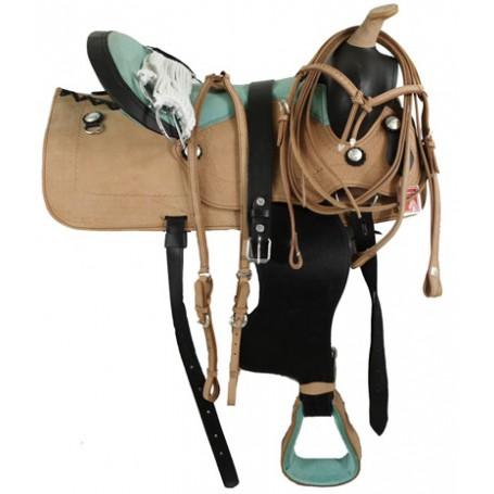 17 New Western Natural Pleasure Trail Saddle Tack
