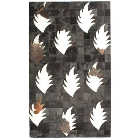 Contemporary 4X6 Cow Skin Leather Grey Cowhide Rug Carpet