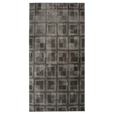 Contemporary 5x8 Cow Skin Leather Grey Cowhide Rug Carpet