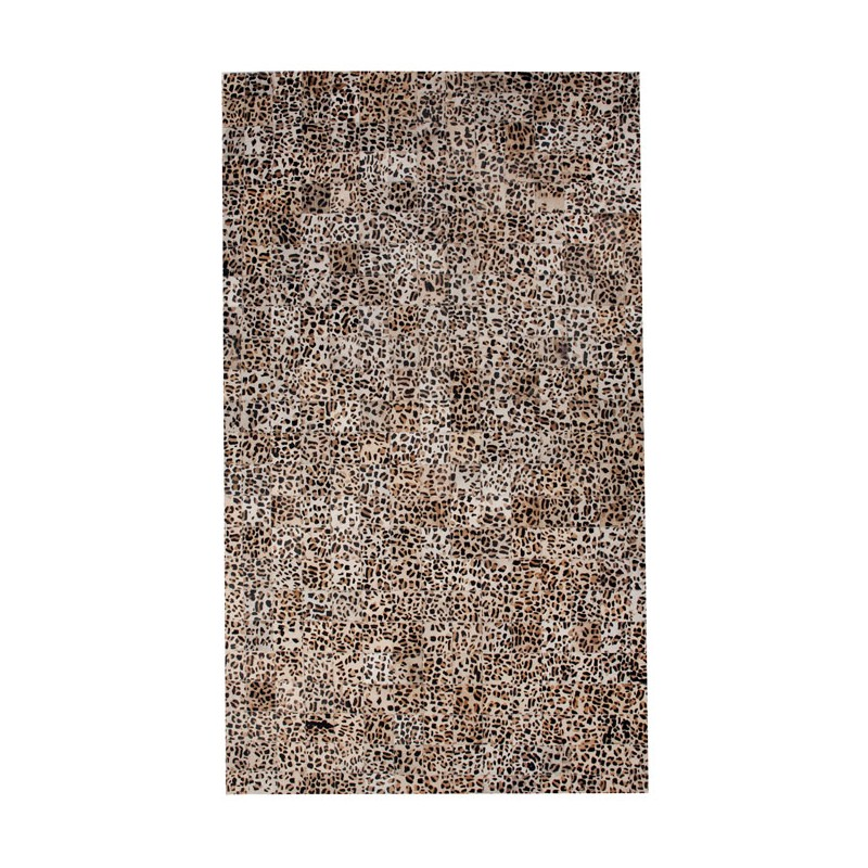Giraffe Pattern 5x8 Cow Skin Leather Cowhide Rug Carpet