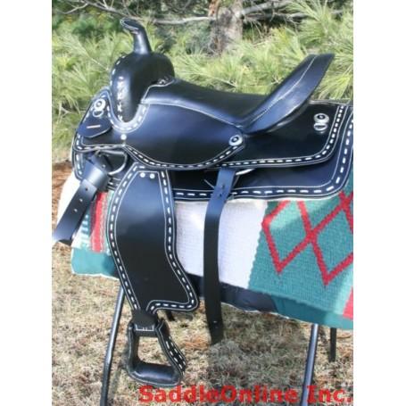 15 Buckstitch Black Western Horse  Saddle