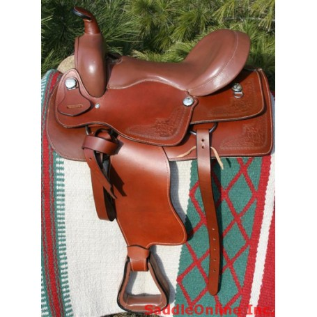 New 16 17 Brown Trail Leather Western Horse Saddle