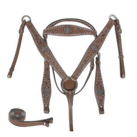 For Sale Western Horse Tack Bling Headstall Breast Collar