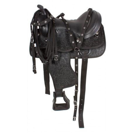 16 Premium Western Synthetic DuraLeather Horse Saddle
