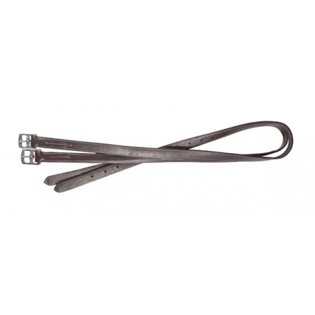Premium Black Brown English Stirrup Leathers
