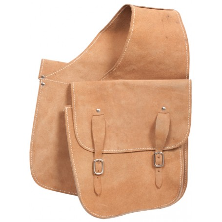 Big Rough Out Cowboy Style Suede Saddle Bags