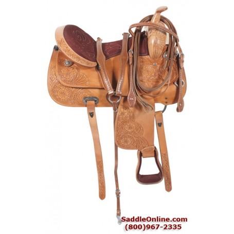 Premium Leather Hand Carved Pleasure Trail Saddle 17