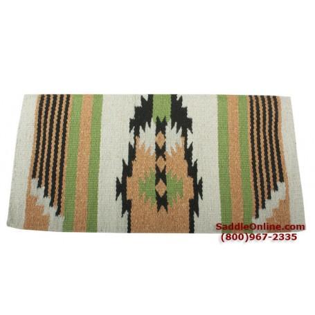 Premium Orange Green Wool Show Horse Saddle Blanket