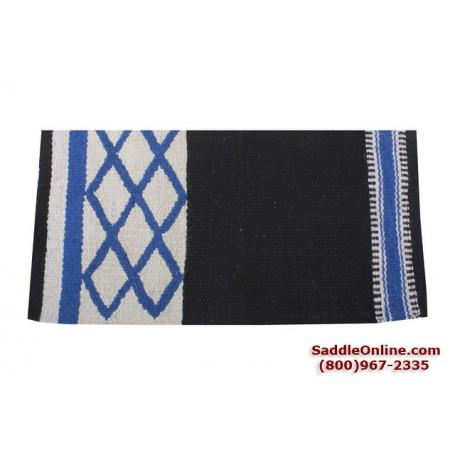Premium Blue Diamond Wool Show Horse Saddle Blanket