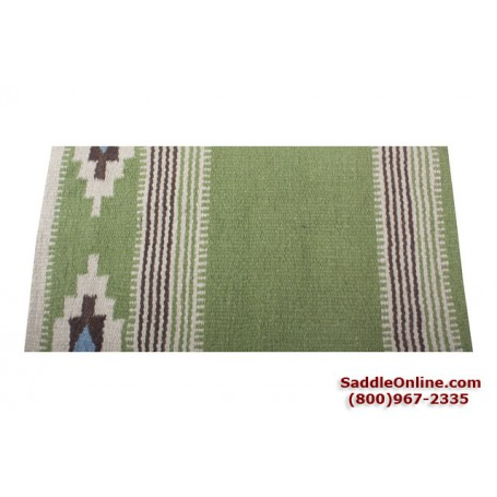 Premium Spring Green Wool Show Horse Saddle Blanket