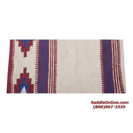 Premium Cream Red Wool Show Horse Saddle Blanket