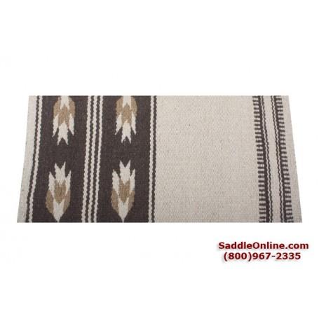 Premium Brown Wheat Wool Show Horse Saddle Blanket