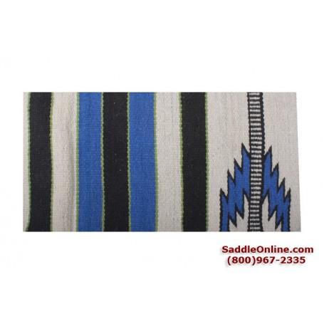 Premium Blue Lightening Wool Show Horse Saddle Blanket