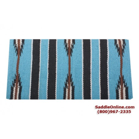 Premium Teal Aqua Wool Show Horse Saddle Blanket
