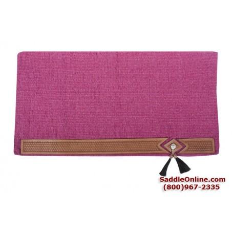 Premium Hot Pink Tassel Wool Show Horse Saddle Blanket