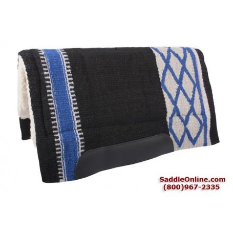 Black Blue Gray Diamond Heavy Wool Horse Western Saddle Pad