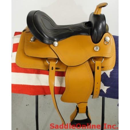 New 16 Tan Western Horse Pleasure Saddle